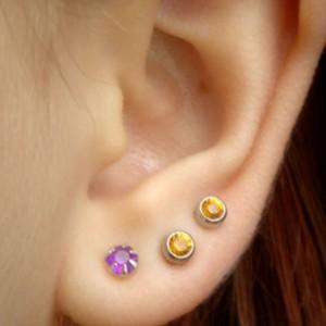 Прокол мочки вуха